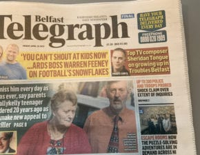 Interview with the Belfast Telegraph